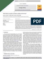 Jim Oswald Energy Policy