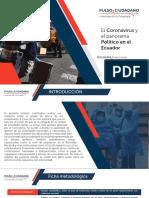 El Coronavirus y El panorama Politico en el Ecuadro Encuesta