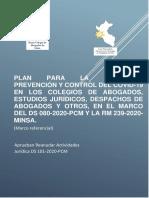Proyecto de Lineamientos de Vigilancia Prevencion y Control Del Covid19