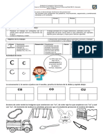 Guía consonante C 1° básico
