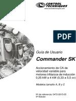Manual de VFD EMERSON Comander SK