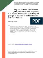 Salinas, Laura (2016). Un lugar para la falta. Posiciones del sujeto paranoico con respecto a la culpa. funcion de la culpa y el pasaje a (..).pdf