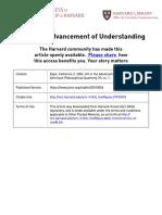 Advancement of understanding