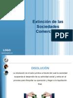 EXTINCIÓN DE LAS SOCIEDADES COMERCIALES