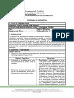 FDIPG11Programa de cátedra de postgrado (Derecho Procesal Penal Superior I)