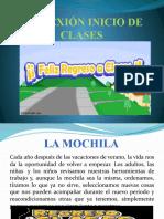 REFLEXIÓN INICIO DE CLASES