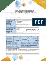 Guía de actividades y rúbrica de evaluación Tarea1. Elementos teoricos de la Etnopsicología