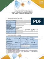 Guía de actividades y rúbrica de evaluación - Post-Tarea - Evaluación Nacional POA (Prueba Objetiva Abierta)