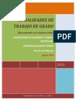 MODALIDADES DE TRABAJO DE GRADO revisado julio 2013 formateado agosto