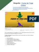 Biografia - Curso de Yoga Online