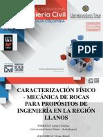 20. Caracterizacion Fisico Mecanica de Rocas para Propositos de Ingenieria en la Region de los Llanos