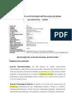 TRABAJO  DE LAS ESTACIONES METEOLOGICA DE IDEAM
