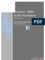 Business - MBA 3000 Words French - English