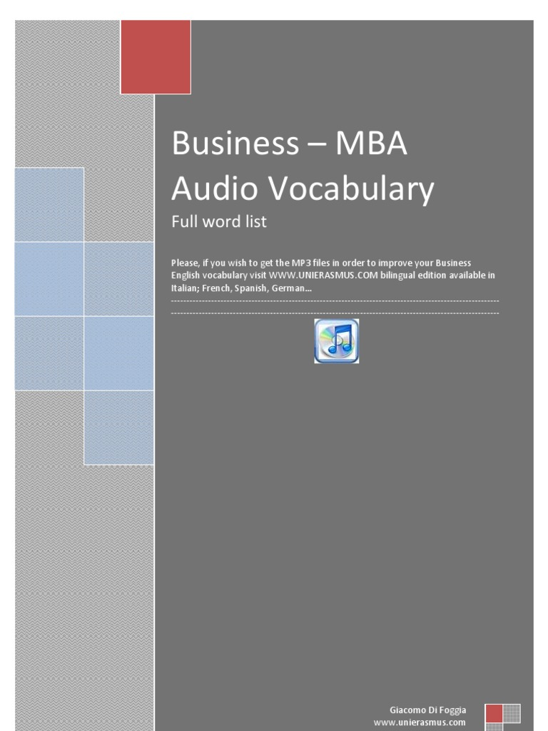 Business - MBA 3000 Words German English | Advertising | Brand