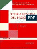 Teoria General Del Proceso. Tomo II. Ferreyra de de La Rua