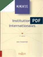 Institutions internationale dalloz.pdf