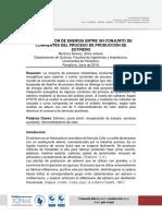 RED DE INTERCAMBIADORES (ESTIRENO)