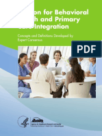 The Lexicon for Behavioral Health and Primary Care Integration USA 2013