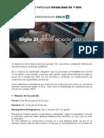 Comunicacion Examenes 1B20 - ED y EDH.do (1)