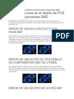 Errores comunes en el diseño de PCB usando componentes SMD