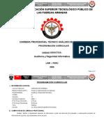 01 - Programación Curricular - Auditoría y Seguridad Informática