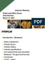 Cat Biodiesel Presentation-NY- 03-13-07