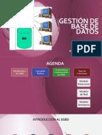 GESTIÓN DE BASE DE DATOS 11-03-2020