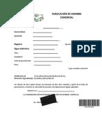 PUBLICACIÓN DE NOMBRE COMERCIAL