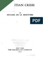 Christian Crisis - M. de La Bedoyere