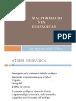 Malformaciones esofagicas