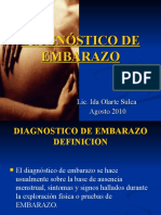 Diagnostico de Embarazo Ida