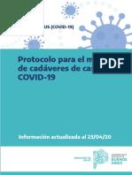Protocolo para el manejo de cadáveres de casos COVID-19 23.04