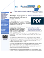 Many Latin Americans Are Up Against Despotic Rule in 2011