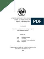 Aplikasi Microsoft Visual Basic 6.0 Pada Sistem Administrasi Pegawai Di an Daerah Air Minum (PDAM) Kota Semarang