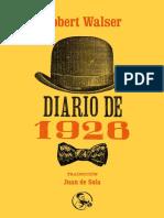 Walser Robert - Diario de 1926