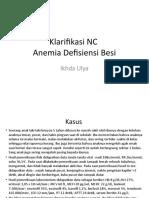Klarifikasi NC-anemia