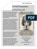 Epic Rites Press - New Book Release - Blood And Greasepaint - Karl Koweski