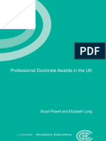 Professional Doctorate Awards 2005
