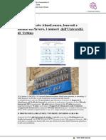 XXII rapporto Almalaurea su laureati e lavoro. I dati di Uniurb - VivereUrbino.it, 11 giugno 2020