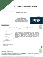 Direcciones Planos e Indices de Miller