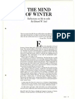 Mind of Winter Reflection on Life in Exile 1984 Edward Said