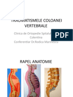8. Traumatismele coloanei vertebrale