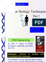 4- Molecular Biology Techniques Part 2
