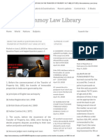 OBJECTIVE SAMPLE QUESTIONS ON THE TRANSFER OF PROPERTY ACT 1882 [1ST SET] _ Advocatetanmoy Law Library
