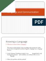 Language and Communication-A
