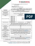 Deklaracja właściwości użytkowych - załącznik 1 blacha trapezowa konstrukcyjna