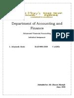 Abaynesh Abate Advanced Financial Accounting.docx