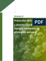 Anexo 6 Protocolos bioseguridad de limpieza y desinfección de áreas, equipos y EPP