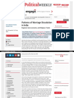 Mariage Trends in India from EPW