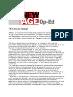 TIFA - Risk or Rescue